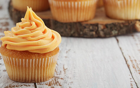 Cupcakes,With,Orange,Icing,On,Top